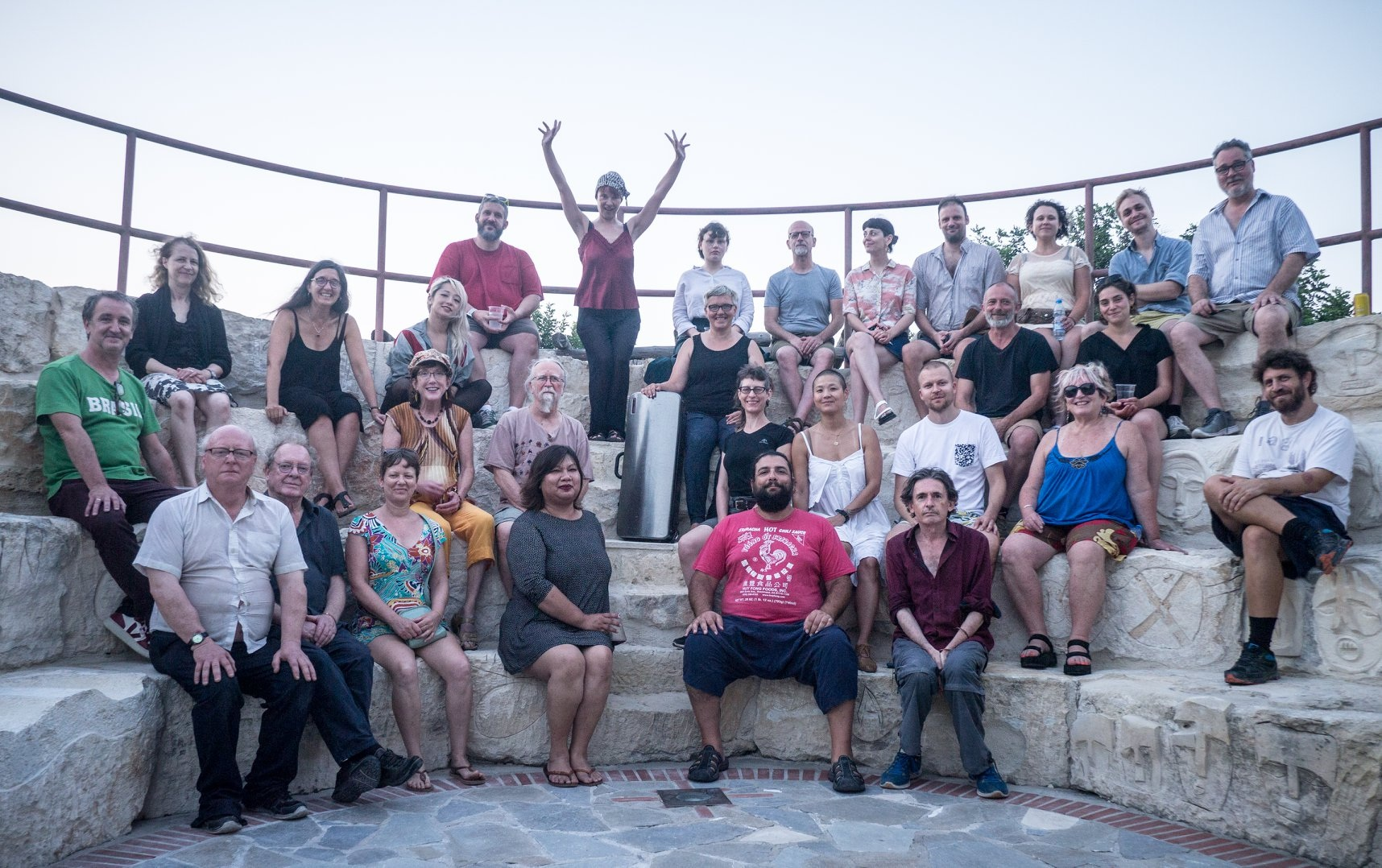 XFest Cyprus performers and organizers - photo by Adrian Northover